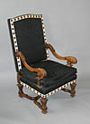 Pair of French, Louis XIV style fauteuils a la Reine