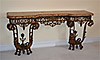Pair of very fine and rare French, Louix XIV style, wrought-iron consoles