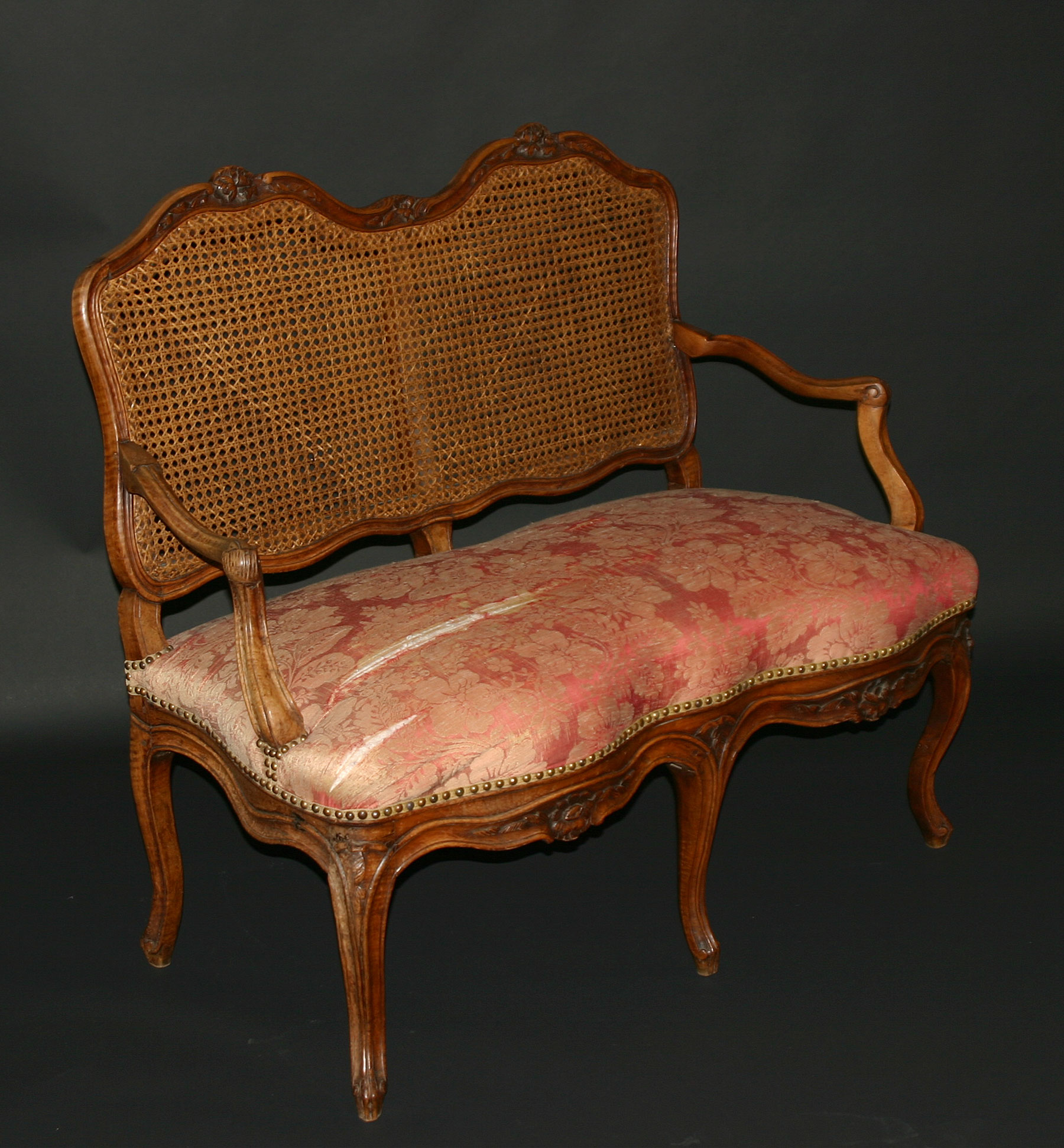 Fine, French Provincial, Louis XV period settee