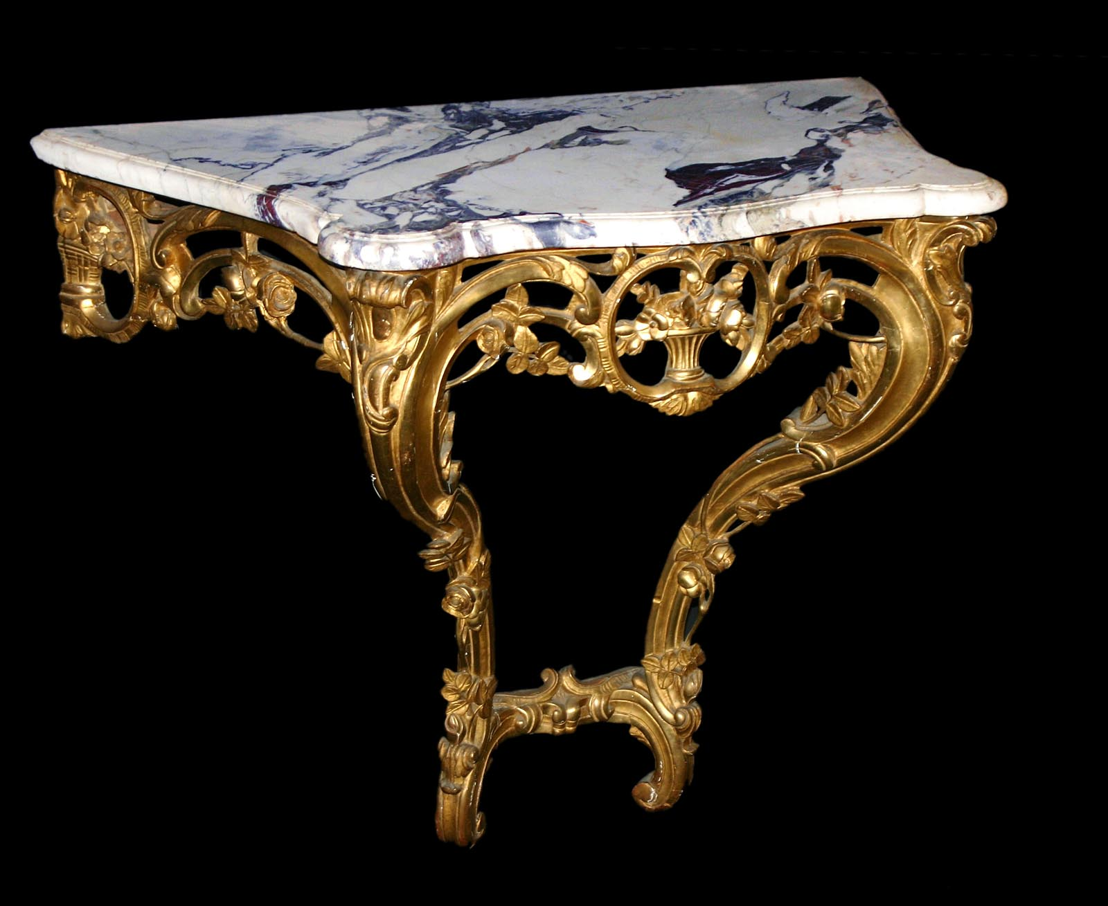 Provenal beaucaire louis xv period carved giltwood console table french provenal beaucaire louis xv period carved giltwood console table geotapseo Images