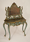 Fine, Venetian, Rococo style, painted and parcel-gilded coiffeuse