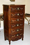 Fine, Louis XV-Louis XVI Transition style semainier (tall chest of drawers)