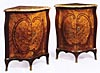 Pair of very fine, Louis XV period encoignures (corner cabinets)