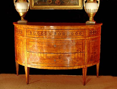 Antique Marquetry Furniture on Antique  Very Fine And Rare Italian  Neo Classical Period  Marquetry