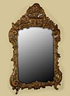 Very fine, French Proven�al, Louis XV period mirror in solid, carved giltwood