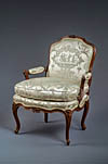 Pair of fine, French, Louis XV period fauteuils