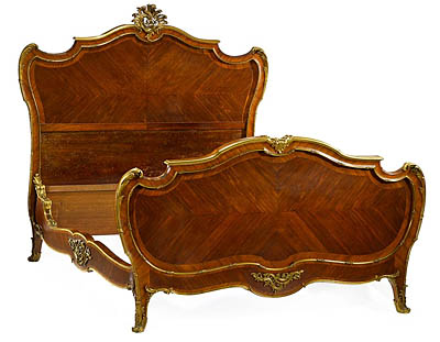 Very Fine, French, Louis XV style bed of large dimension