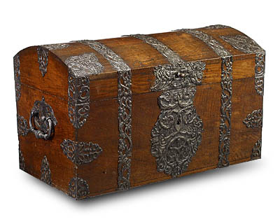 Large, German, Baroque period chest