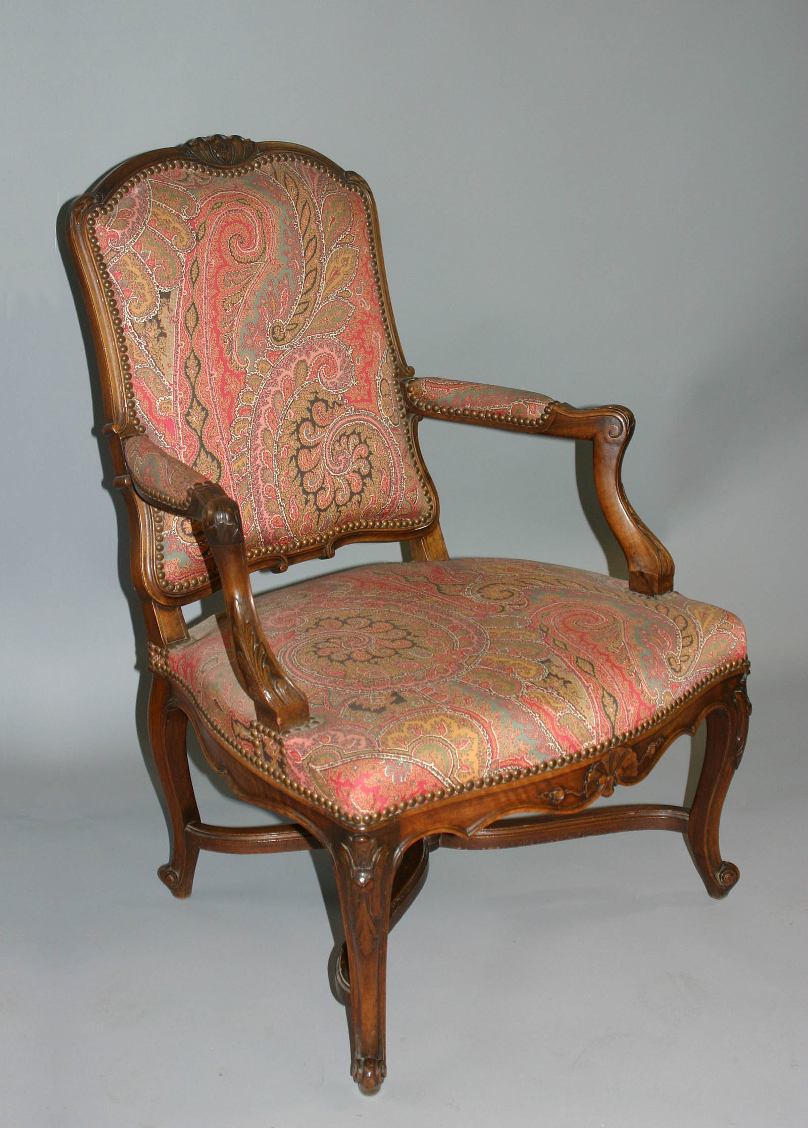 Pair of fine, French, Provençal, Louis XV style fauteuils