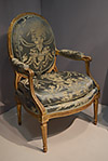 Pair of very fine Neoclassical period fauteuils of large dimension