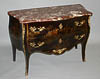 Fine, French, Louis XV style chinoiserie sauteuse sans traverse (two drawer commode)