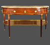 Very fine, French, Louis XVI period, brass mounted console desserte