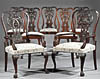 Set of twelve fine, Irish, George III style dining chairs