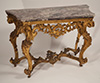 Very fine, Italian Rococo period console table