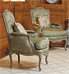 Pair of very fine, French, Louis XV period bergeres