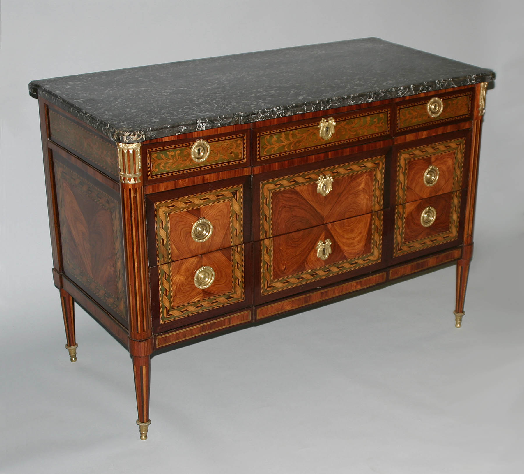 very fine french neoclassical period marquetry commode. Black Bedroom Furniture Sets. Home Design Ideas