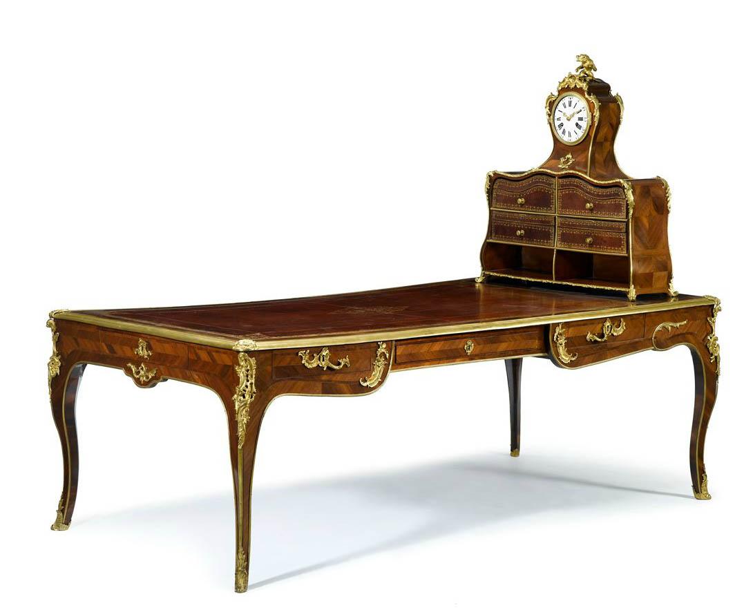 very fine louis xv gilt bronze mounted kingwood bureau. Black Bedroom Furniture Sets. Home Design Ideas