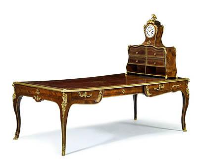 Bombe louis xv style bureau plat writing table desk price £