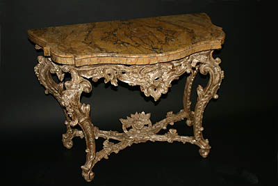 Very fine, Roman, Rococo period console table
