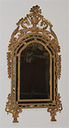 Very fine, Italian, Neoclassical period mirror a parcloses