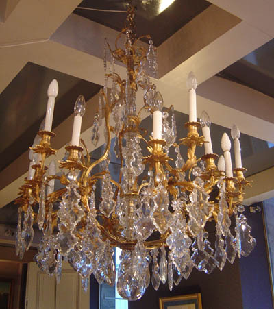 Very fine and rare french louis xv period chandelier aloadofball Gallery