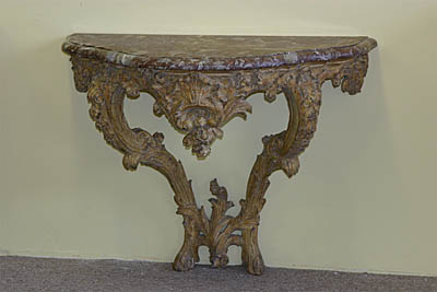 Fine, German, Regence period console table