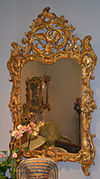 Very fine, French, early Louis XV period mirror a parcloses