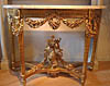 Fine, French, Louis XVI period, demi-lune console table
