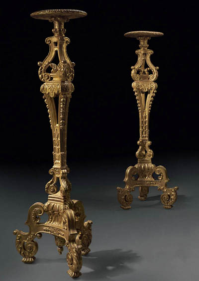 Pair Of French Louis Xiv Period Torcheres