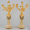 Pair of French, Louis XVI style candelabra