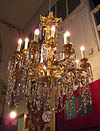 Very fine, Rocaille style, Baccarat, 18-light chandelier