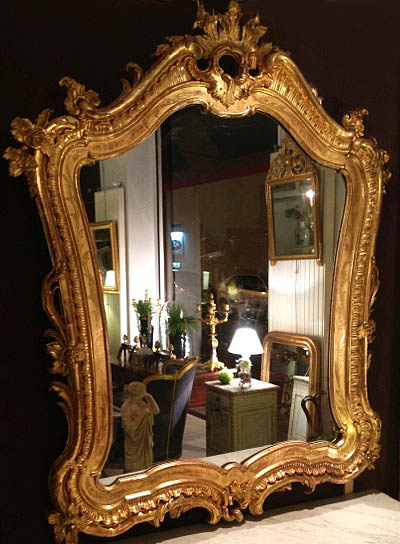 Rare, French, Rocaille style mirror