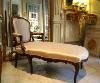 Rare, French, Louis XV period chair-back chaise longue